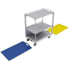 Danese Milano Mobile Life Storage Unit Tray in Blue Metal by Matali Crasset