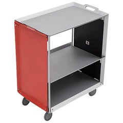 Danese Milano Mobile Life Storage Unit Tray in Red Metal by Matali Crasset