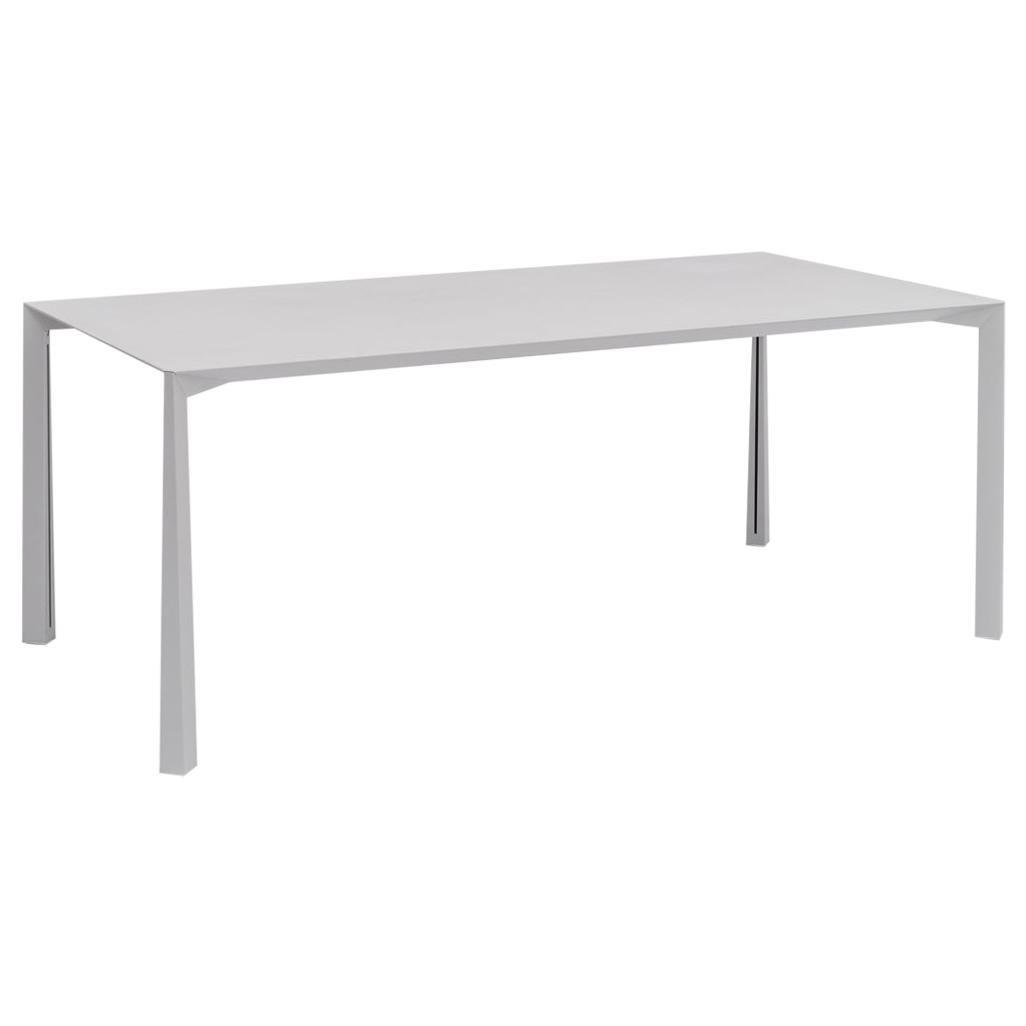 Danese Milano Ovidio Large Desk in Silver Metal by Francisco Gomez Paz