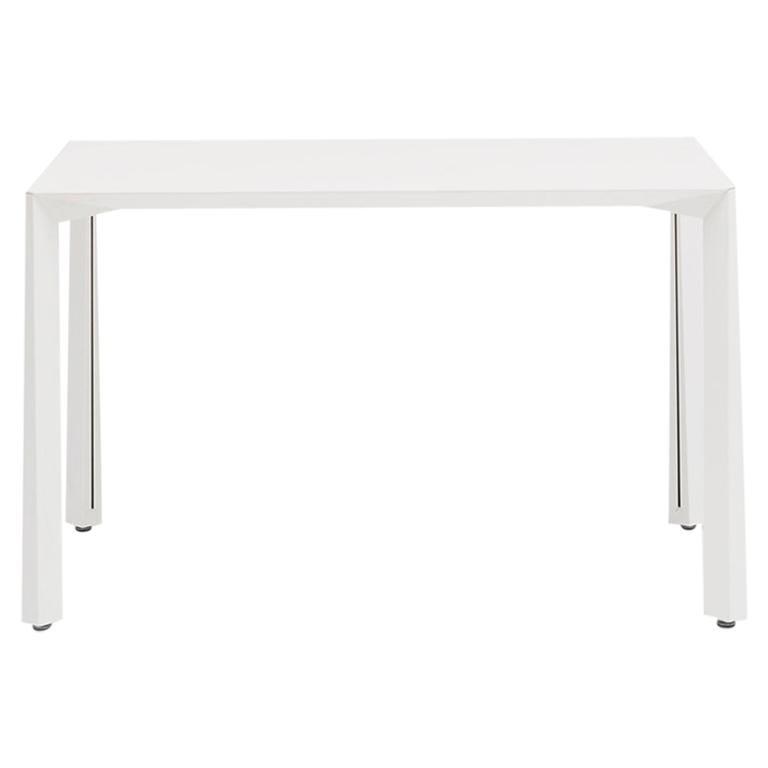 Danese Milano Ovidio Small Desk in White Metal by Francisco Gomez Paz