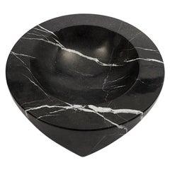 Danese Milano Paros D1 Ashtray in Black Marquina marble by Enzo Mari