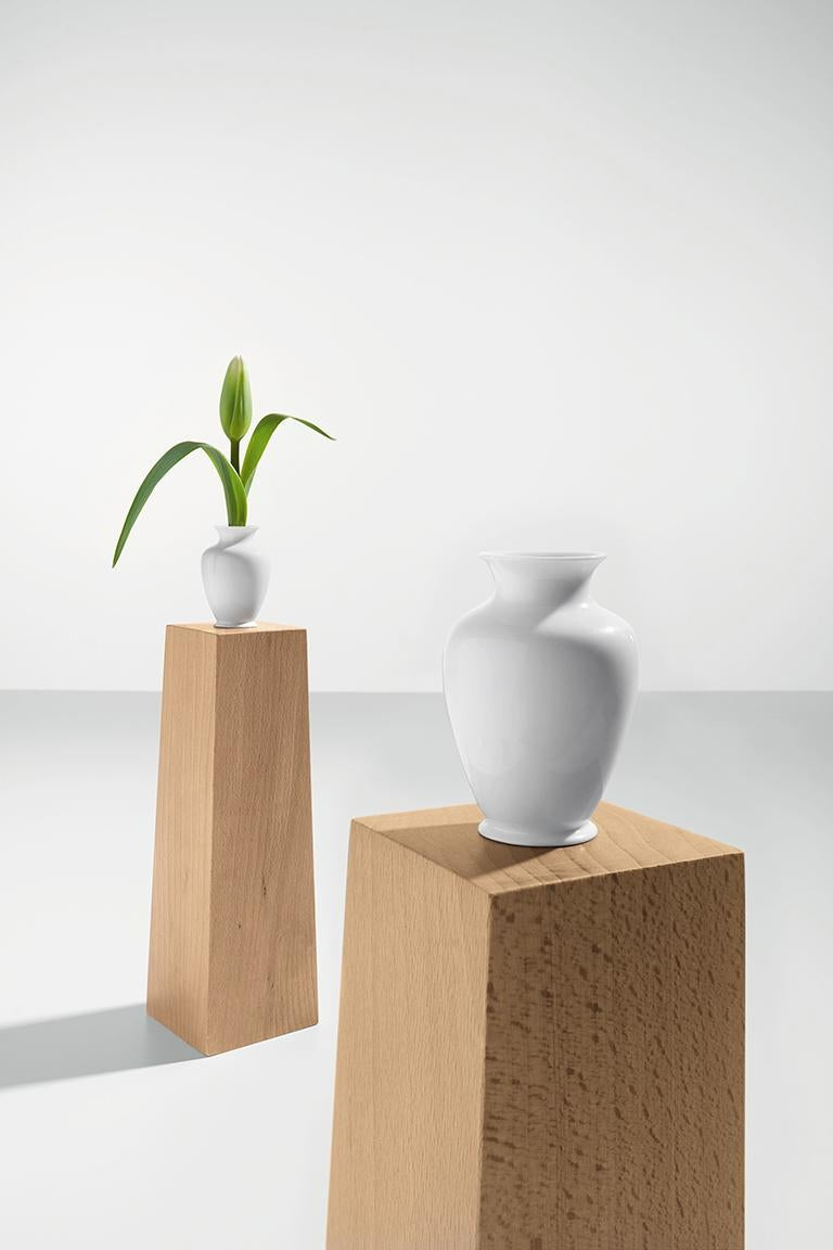 Modern Danese Milano Pedestal Vase B in Beech Wood by Ron Gilad For Sale