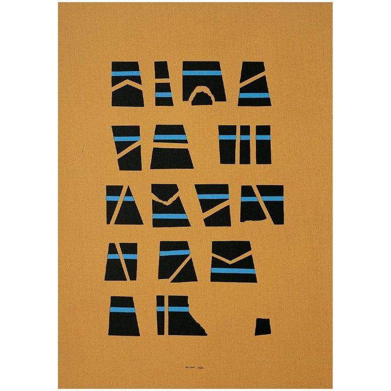 Danese Milano Scrittura Illeggibile Brown Print by Bruno Munari For Sale
