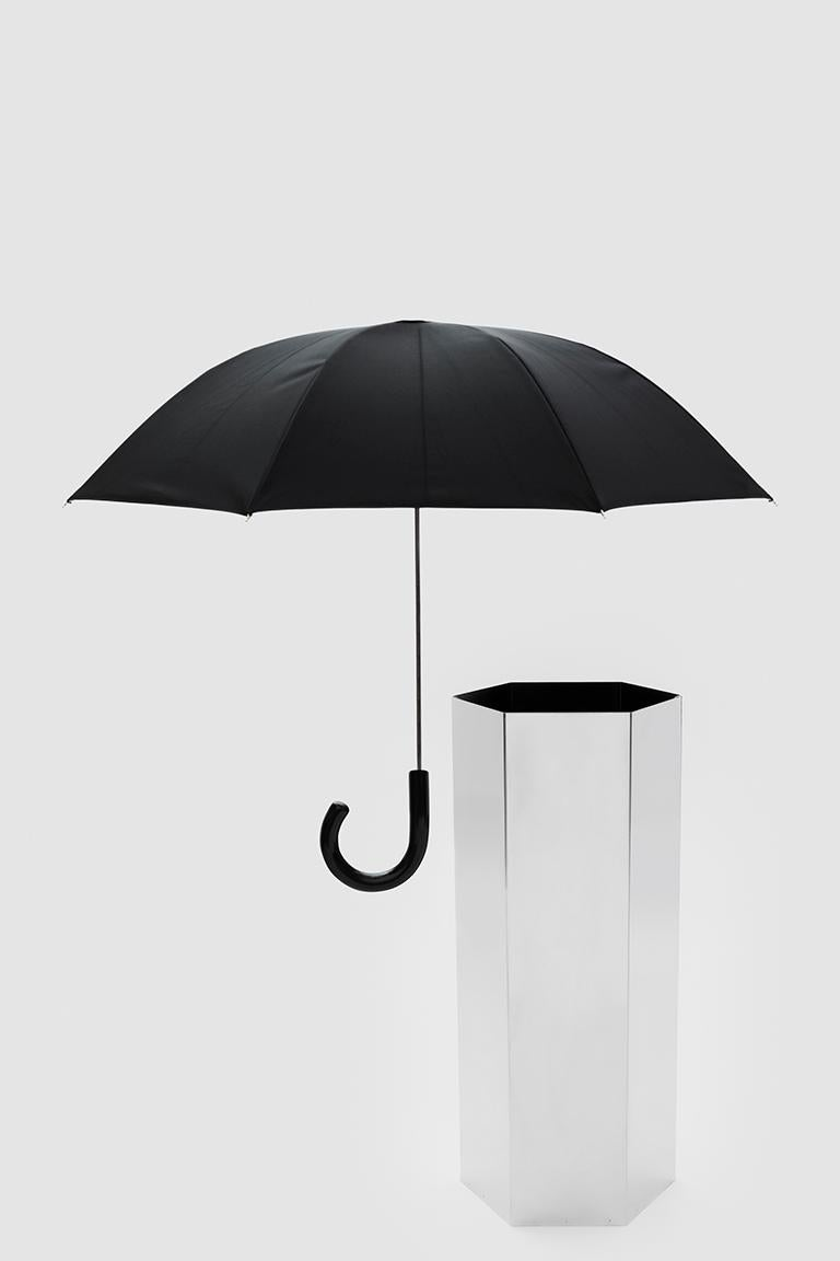 Italian Danese Milano Sicilia 56 Umbrella Stand in Stainless Steel by Bruno Munari For Sale