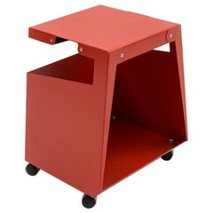 Danese Milano Smith Multipurpose Cart in Red Metal by Jonathan Olivares
