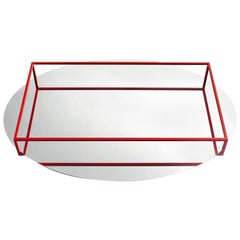 Danese Milano Surface + Border No. 2 Tray or Fruit Bowl in Red by Ron Gilad
