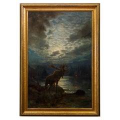 """""""Danger Signal"""" Original Oil by Robert Atkinson Fox"""