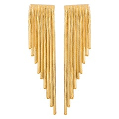 Dangling Fringed Earring Pair in 18 Carat Gold from Iosselliani