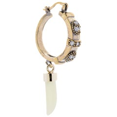 Dangling Nacre Hoop Single Earring from IOSSELLIANI