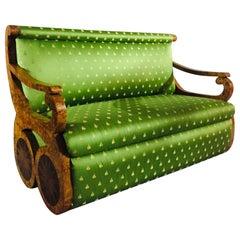 Danhauser Sofa in Viennese Biedermeier Style, Bird's-Eye Veneer on Beechwood