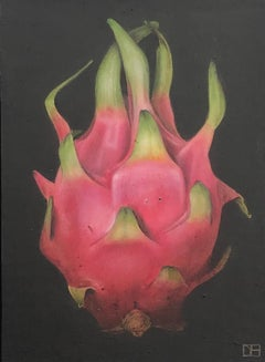 Dani Humberstone, Dragon Fruit, Original Painting, Realistic Fruit Painting