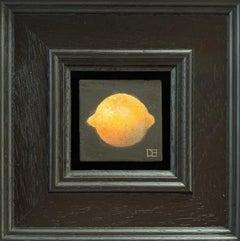 Dani Humberstone, Pocket Lemon, Original Miniature Realist Still Life Painting