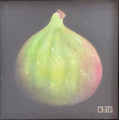 Green Fig, Dani Humberstone, Original Realist Painting, Affordable Art