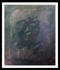 Black- original abstract canvas acrylic painting
