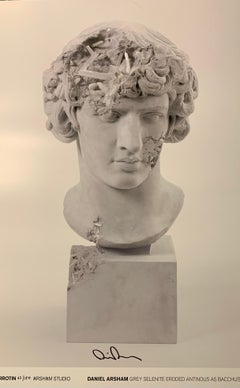DANIEL ARSHAM GRAY SELENITE ERODED ANTINOUS AS BACCHUS Signed & Numbered Street