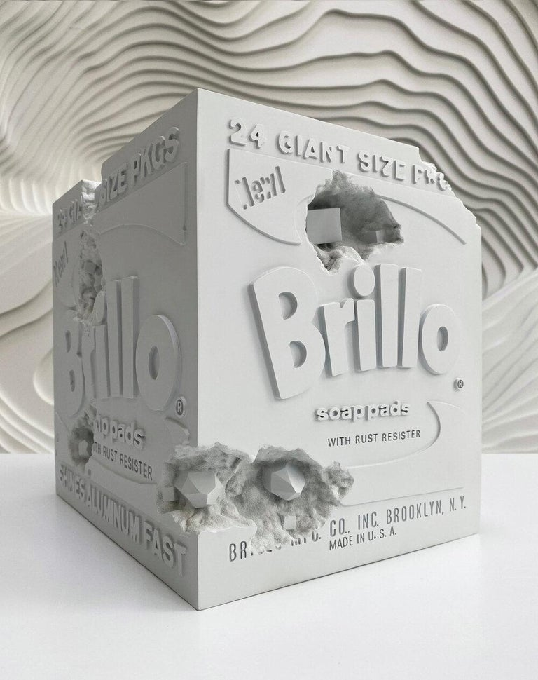 Daniel Arsham Eroded Brillo Box, 2020 - Sculpture by Daniel Arsham