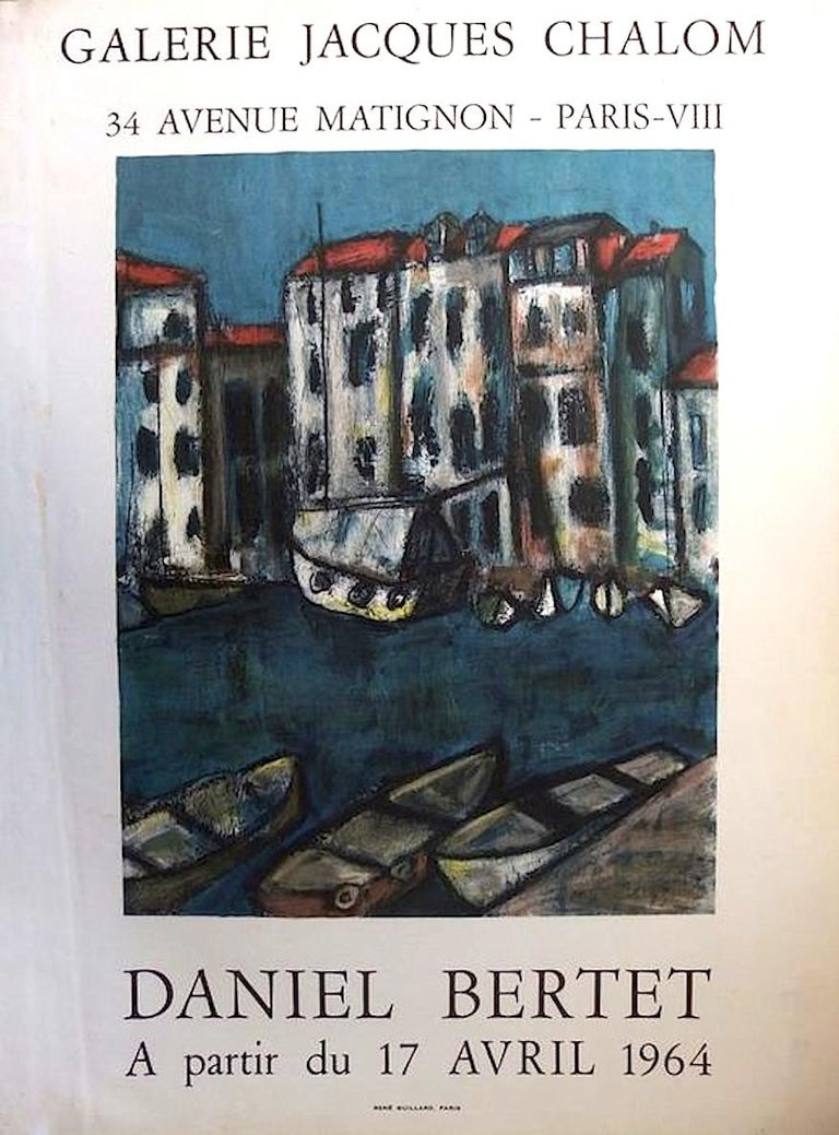 Daniel Bertet Abstract Painting of a French Village  For Sale 3