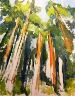 Pamplin Grove near Carlotta, CA, Painting, Acrylic on Canvas