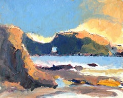 Pearl Street Beach Evening, Painting, Acrylic on Other