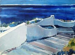 Stairway to Santorini, Painting, Acrylic on Other