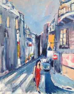 Summer Evening Paris, Painting, Acrylic on Other