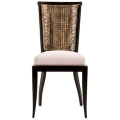 Daniel Clement Mosaic Mirror Occasional Chair