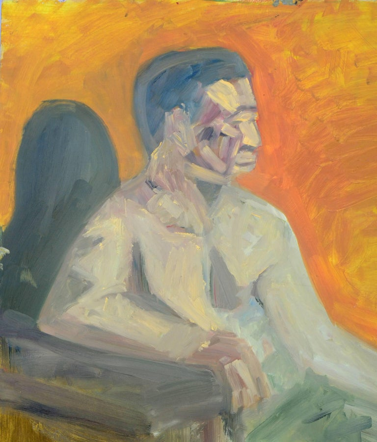 Abstract Expressionist Duo Verso Male Figures  - Painting by Daniel David Fuentes