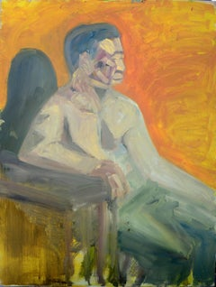 Abstract Expressionist Duo Verso Male Figures