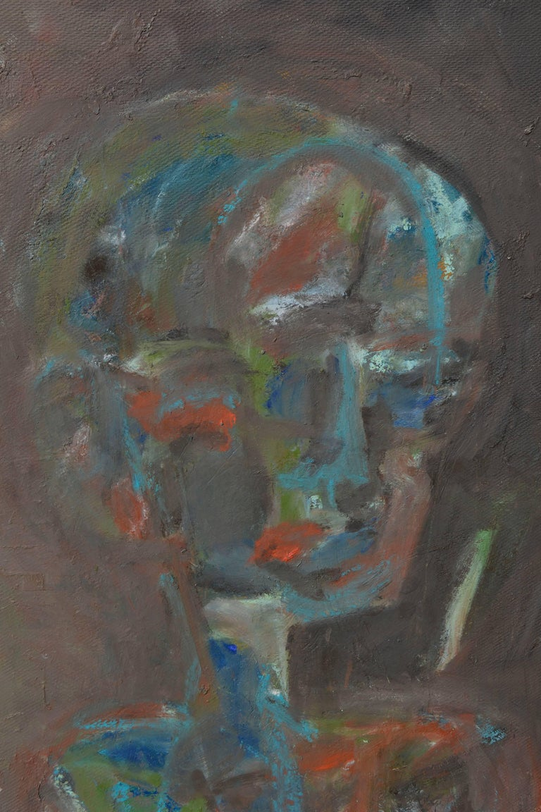 Looking Away by Fuentes - Abstract Expressionist Painting by Daniel David Fuentes