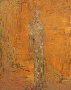 Orange Man Abstract Expressionist Figurative