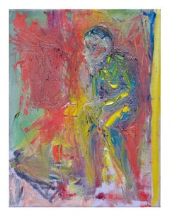 Seated Man Abstract Expressionist Figurative