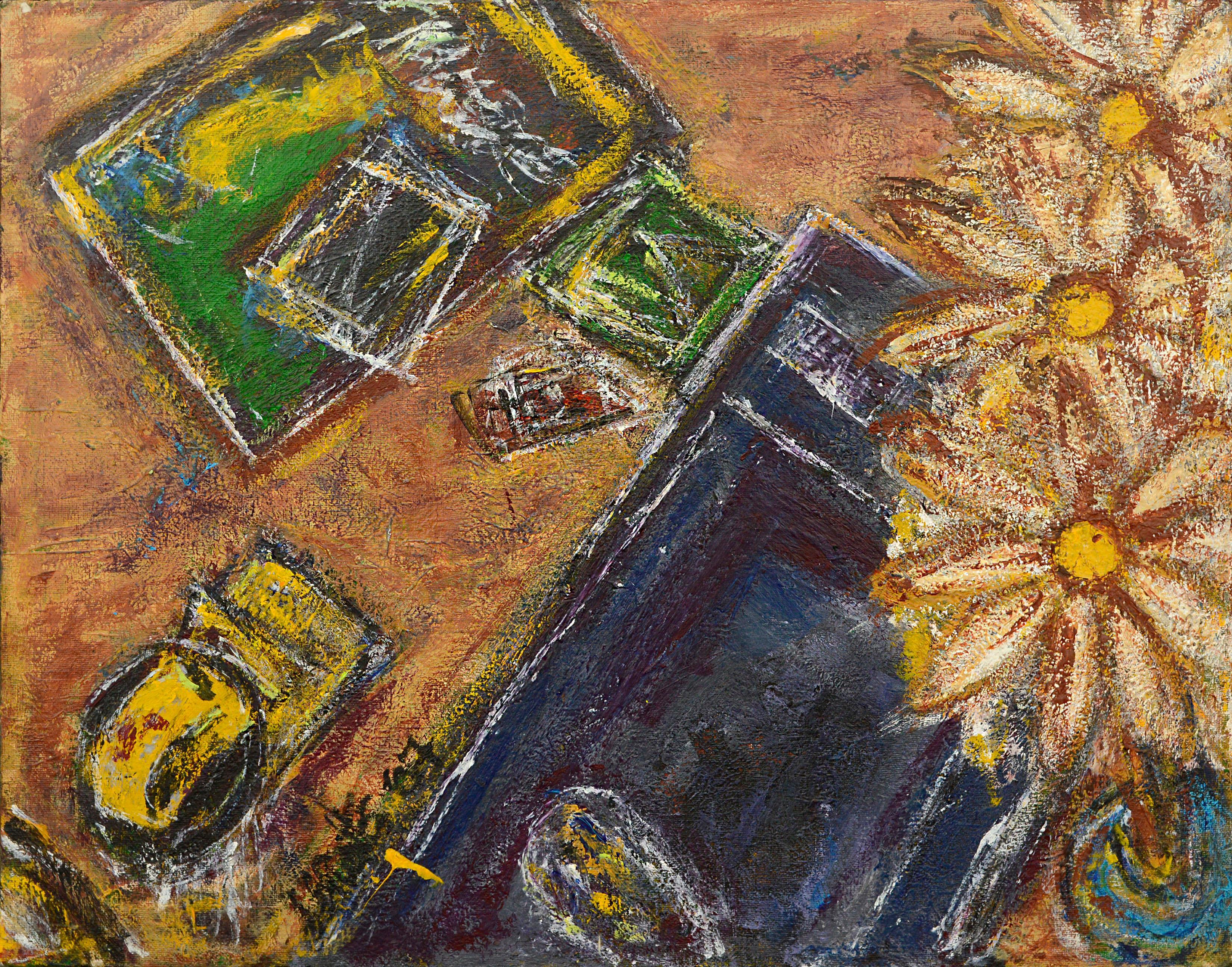 Three Daisies Abstract Still-Life