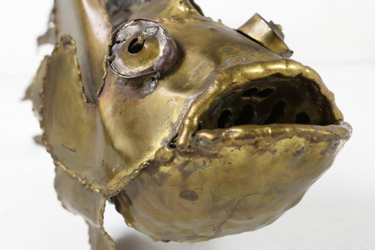 Daniel D'haeseleer Brutalist Fish Sculpture, 1970s For Sale 4