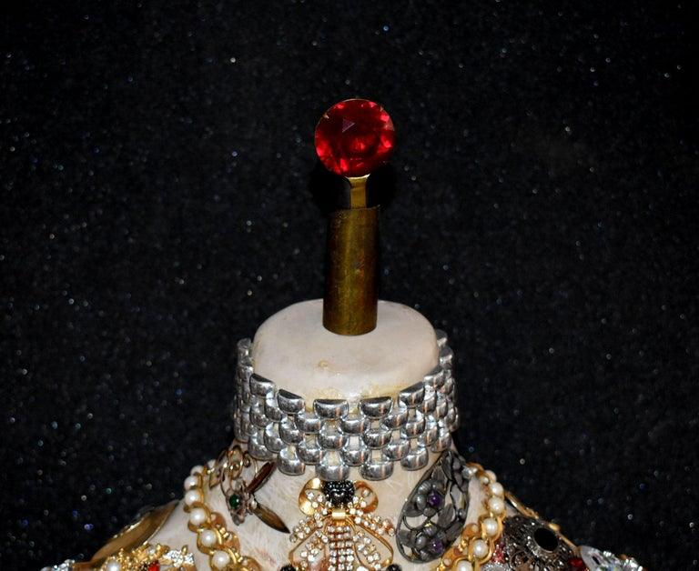 Mid-Century Modern Daniel Dupir Unique Jewelry Sculpture For Sale