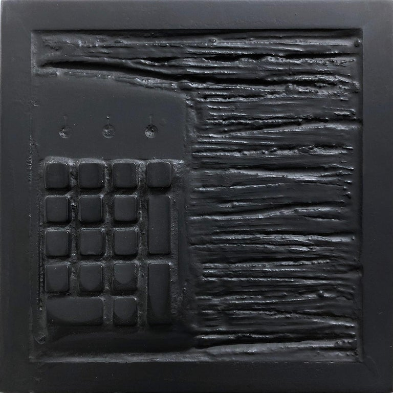 """Pen Decline 1 - 2 - 3 in Black"" (Archeology series) Computer Keyboard Sculpture - Painting by Daniel Fiorda"