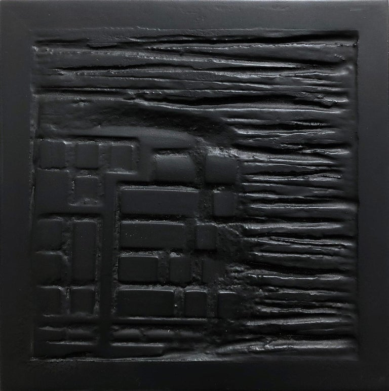 """Pen Decline 1 - 2 - 3 in Black"" (Archeology series) Computer Keyboard Sculpture - Contemporary Painting by Daniel Fiorda"