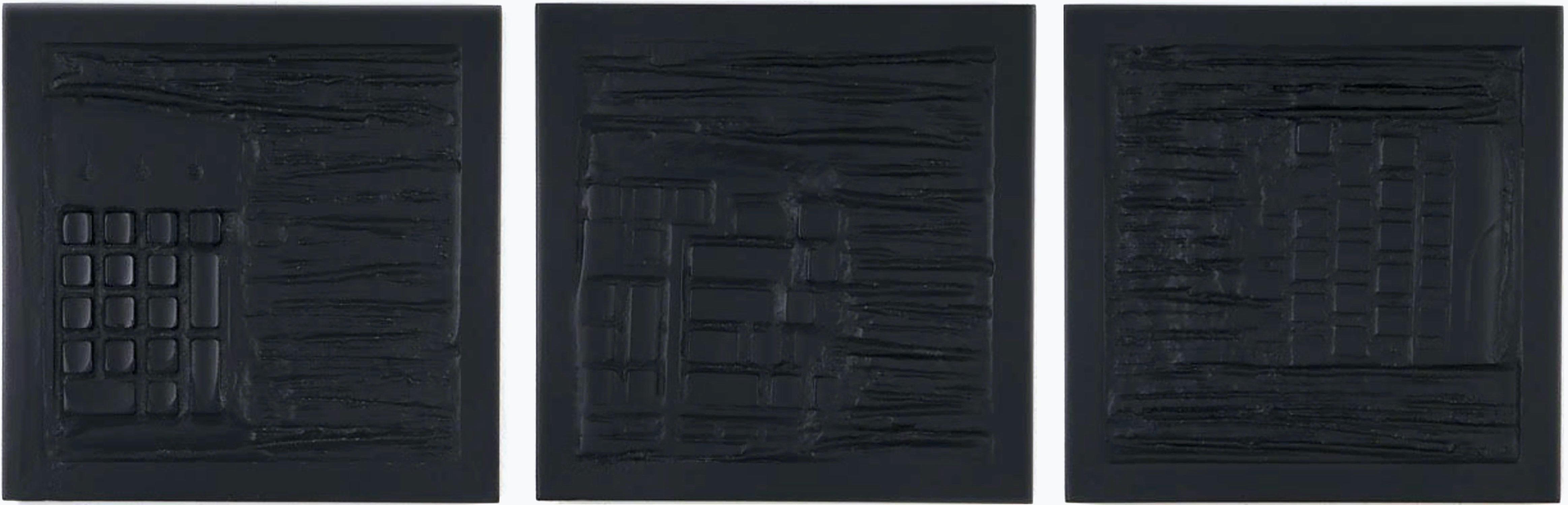 """Pen Decline 1 - 2 - 3 in Black"" (Archeology series) Computer Keyboard Sculpture"