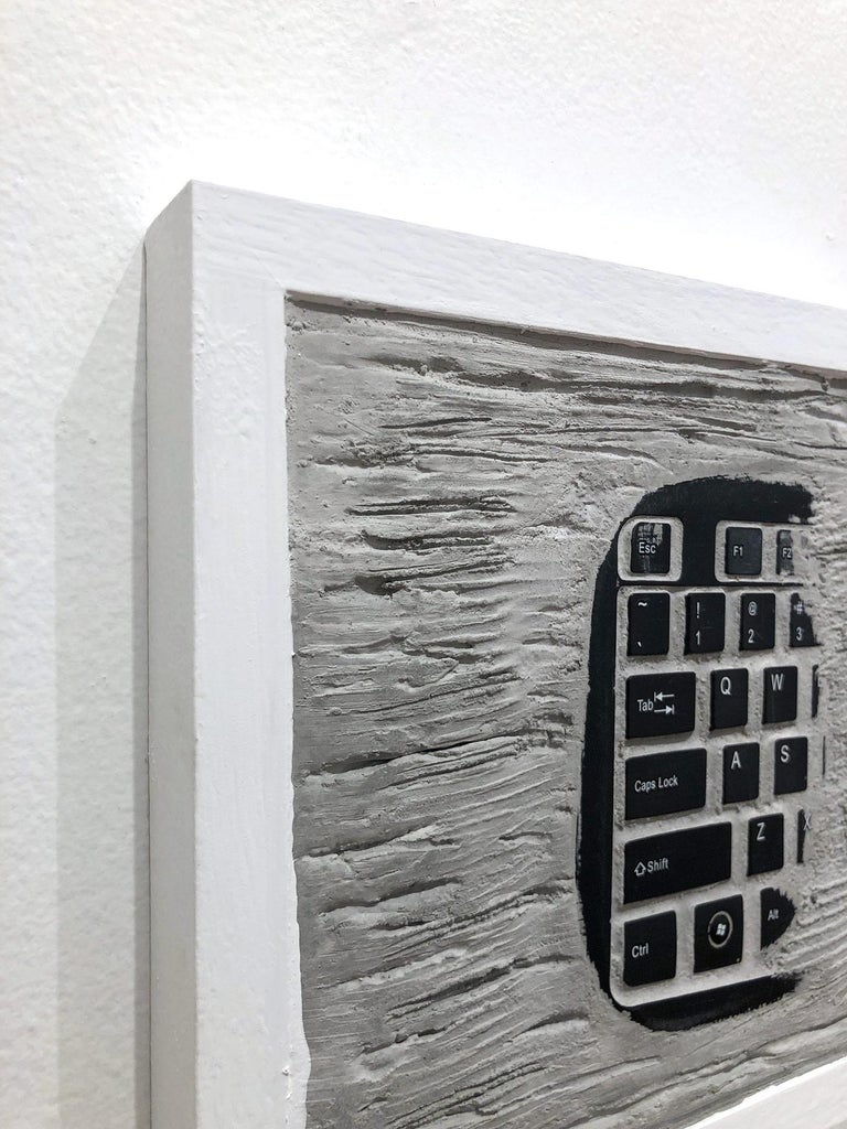 """Pen Decline 1 - 2 - 3 in Grey"" (Archeology series) Computer Keyboard Sculpture For Sale 5"