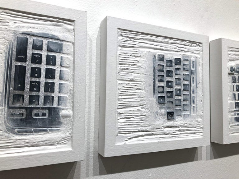 """Pen Decline 1 - 2 - 3 in White"" (Archeology series) Computer Keyboard Sculpture For Sale 8"