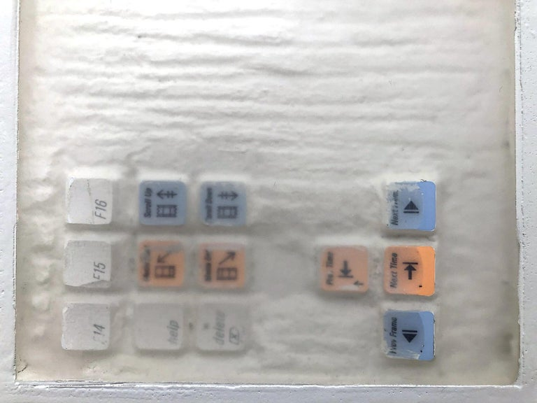 """""""Video Editing Keyboard 1 - 2 - 3"""" (Archeology series) Video Keyboard Sculpture For Sale 12"""