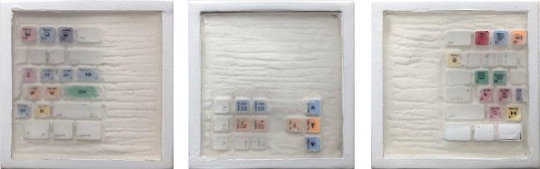 "Daniel Fiorda Still-Life Sculpture - ""Video Editing Keyboard 1 - 2 - 3"" (Archeology series) Video Keyboard Sculpture"