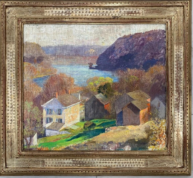"""Daniel Garber Landscape Painting - """"From Carey's Hill"""""""