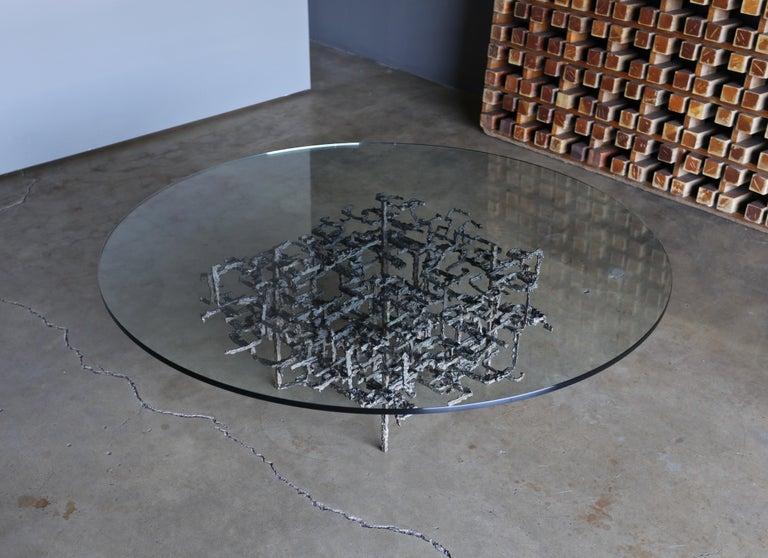 Daniel Gluck Sculptural Coffee Table, circa 1970 For Sale 6