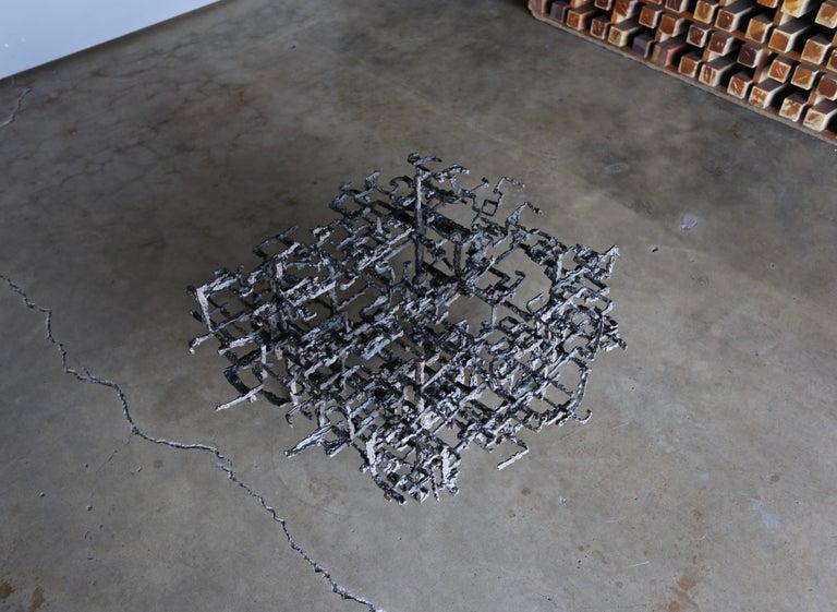 Daniel Gluck Sculptural Coffee Table, circa 1970 In Good Condition For Sale In Costa Mesa, CA