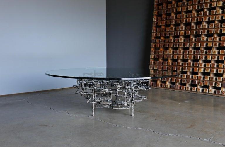 Daniel Gluck Sculptural Coffee Table, circa 1970 For Sale 2