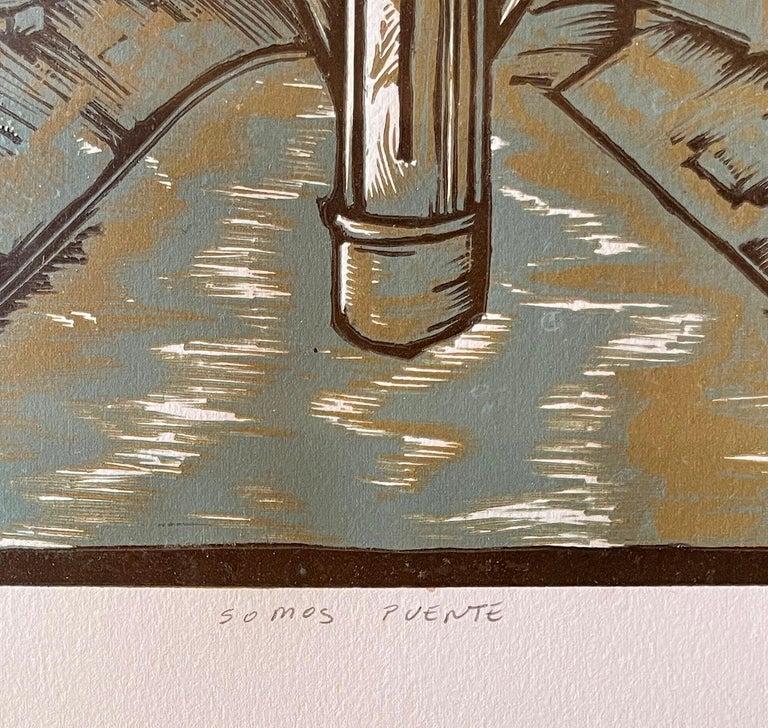 Somos Puente - Contemporary Print by Daniel Gonzalez