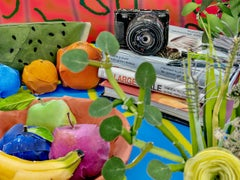 Books with Camera and Fruits, 2020 - Daniel Gordon