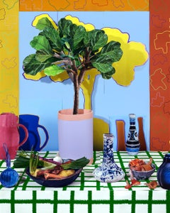 Fiddle Leaf Ficus with Root Vegetables and Chanterelles, 2021 - Daniel Gordon