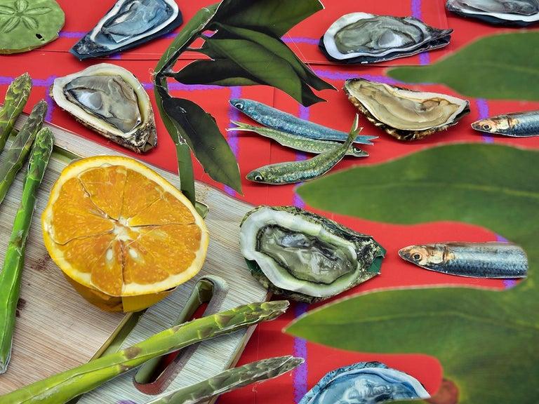 Oysters, 2020 - Daniel Gordon - Print by Daniel Gordon