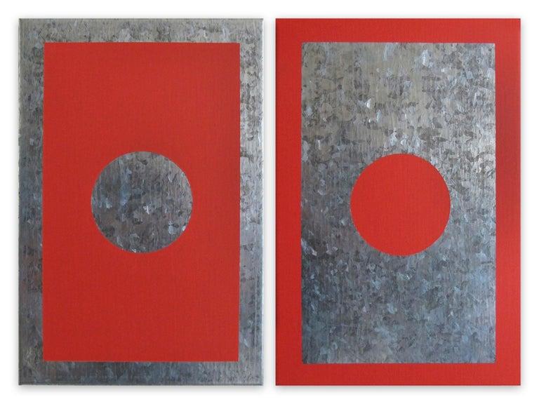 Daniel Göttin Abstract Painting - O1A-B, 2018 (Abstract painting)